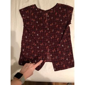 Abercrombie & Fitch Tops - Abercrombie & Fitch Maroon Blouse with Flowers